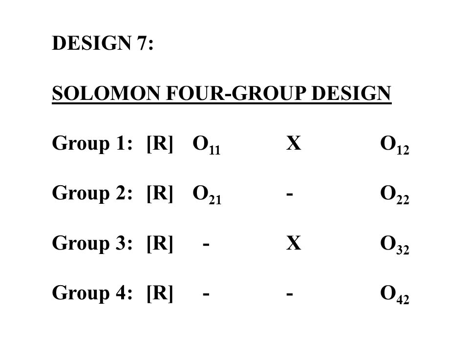 solomon four group design Academiaedu is a platform for academics to share research papers.